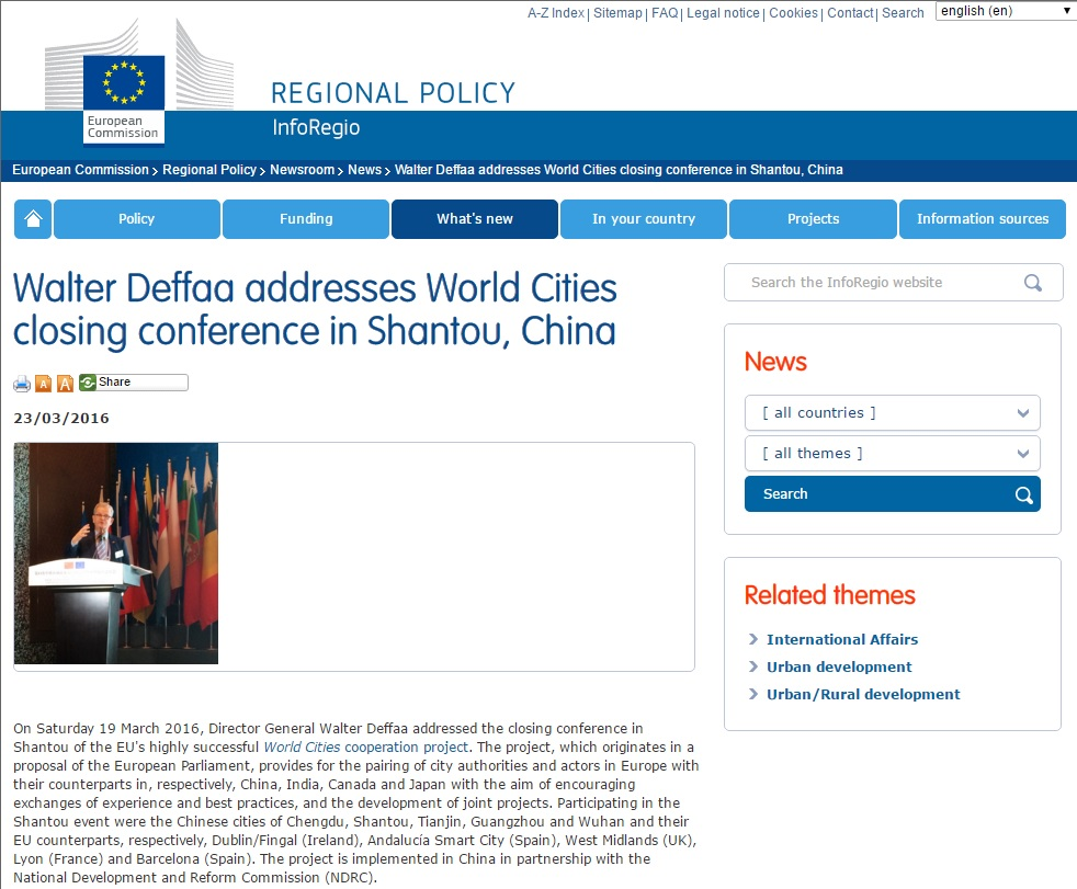 DG REGIO Website Note