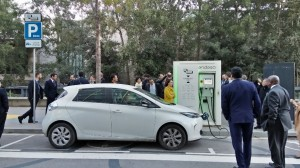 Battery charging facility for electric car