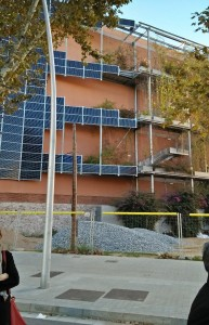 Installation of solar panels for the fulfillment of electric energy in one of the apartment buildings